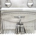 Burberry Leather Canvas Tote in Silver Image 10
