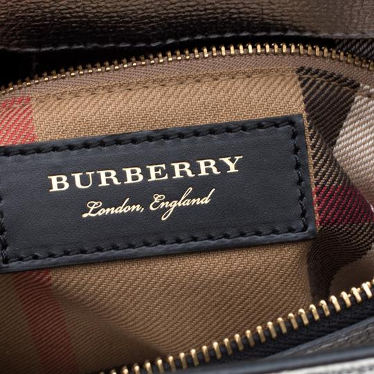 Burberry Leather Canvas Tote in Silver Image 9