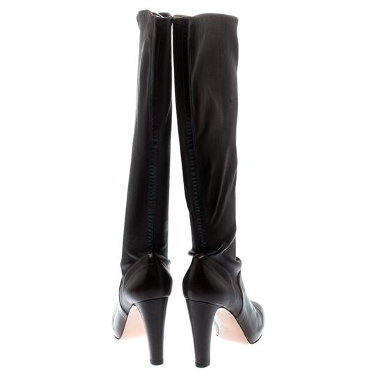 Gianvito Rossi Leather Knee High Brown Boots Image 2