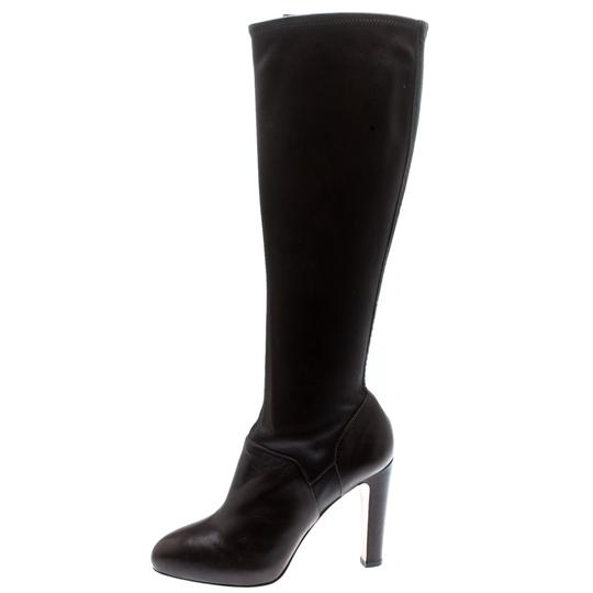 Gianvito Rossi Leather Knee High Brown Boots Image 3