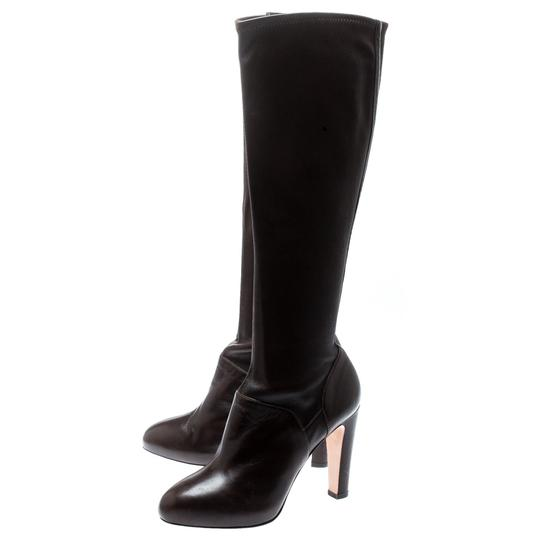 Gianvito Rossi Leather Knee High Brown Boots Image 5