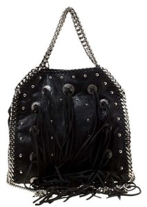 Stella McCartney Faux Leather Fabric Tote in Black
