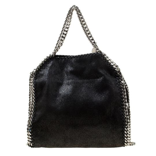 Stella McCartney Faux Leather Fabric Tote in Black Image 1