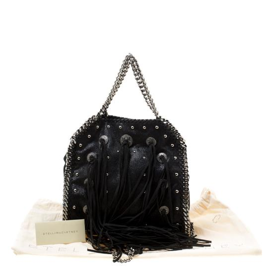 Stella McCartney Faux Leather Fabric Tote in Black Image 11