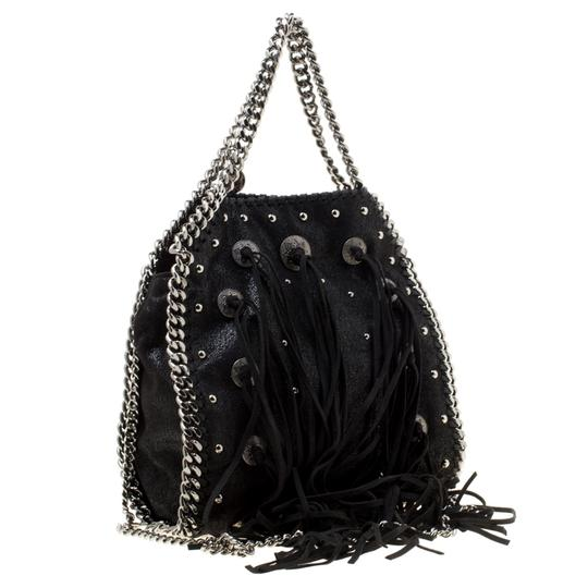 Stella McCartney Faux Leather Fabric Tote in Black Image 4
