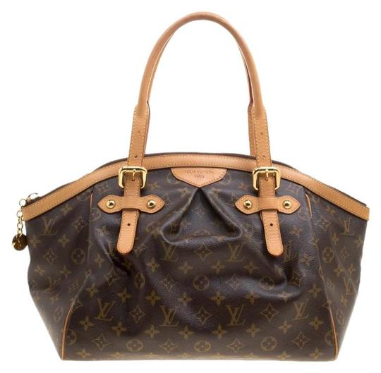 Louis Vuitton Canvas Leather Monogram Satchel in Brown Image 0