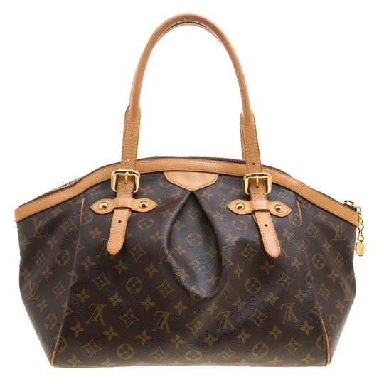 Louis Vuitton Canvas Leather Monogram Satchel in Brown Image 1