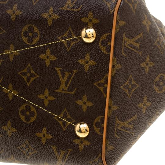 Louis Vuitton Canvas Leather Monogram Satchel in Brown Image 10
