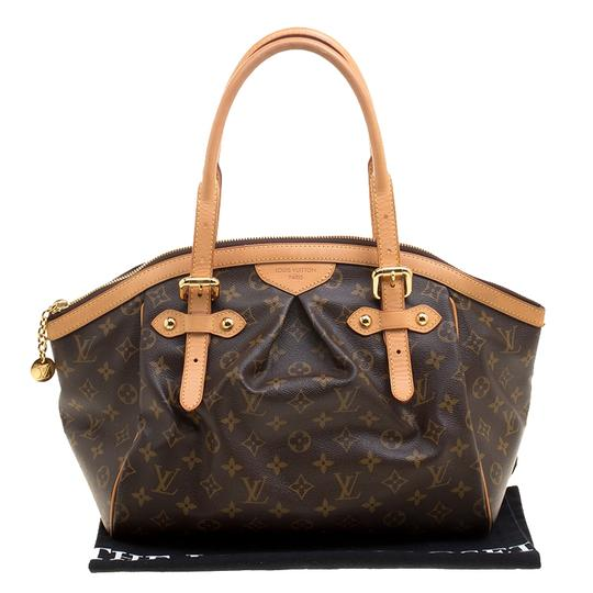 Louis Vuitton Canvas Leather Monogram Satchel in Brown Image 11