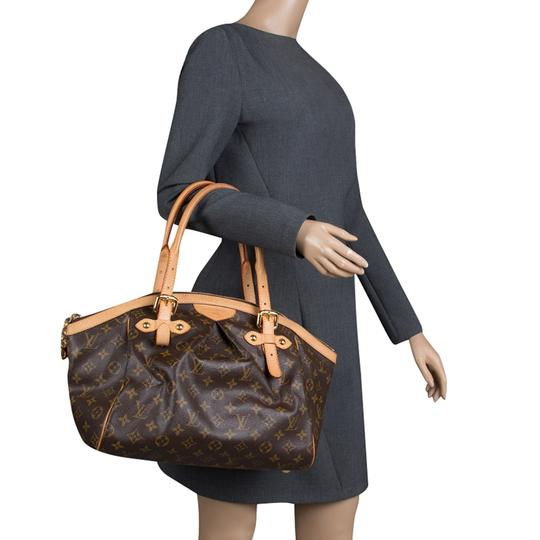 Louis Vuitton Canvas Leather Monogram Satchel in Brown Image 2
