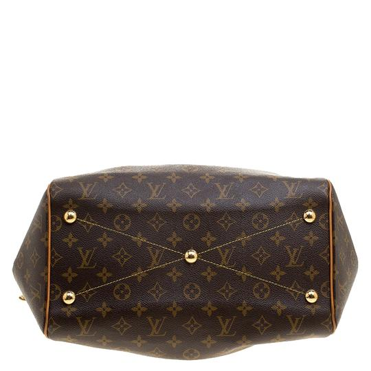 Louis Vuitton Canvas Leather Monogram Satchel in Brown Image 3