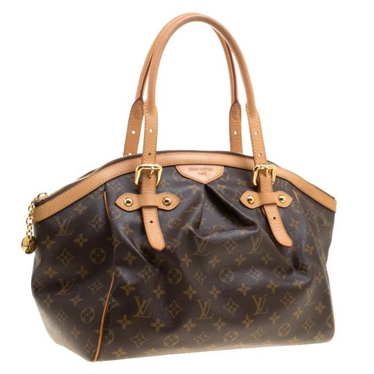 Louis Vuitton Canvas Leather Monogram Satchel in Brown Image 4
