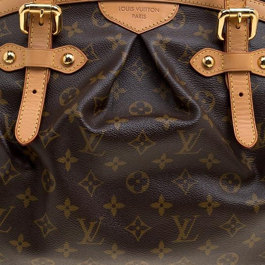 Louis Vuitton Canvas Leather Monogram Satchel in Brown Image 7