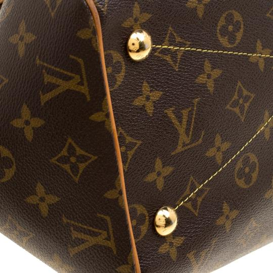 Louis Vuitton Canvas Leather Monogram Satchel in Brown Image 8