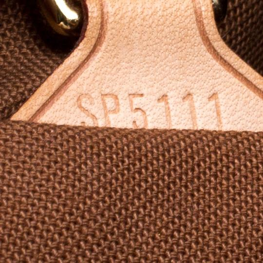 Louis Vuitton Canvas Leather Monogram Satchel in Brown Image 9