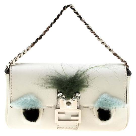 Preload https://img-static.tradesy.com/item/25921785/fendi-micro-monster-baguette-white-leather-clutch-0-1-540-540.jpg