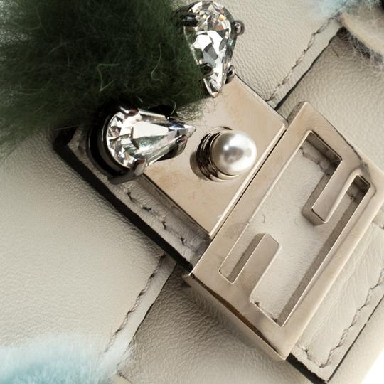 Fendi Suede Leather White Clutch Image 5