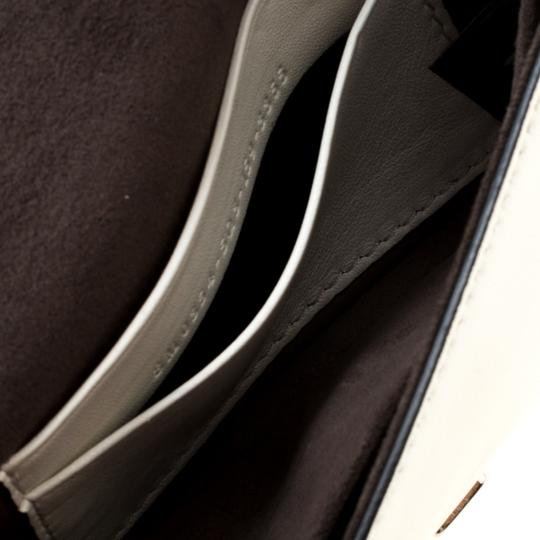 Fendi Suede Leather White Clutch Image 8