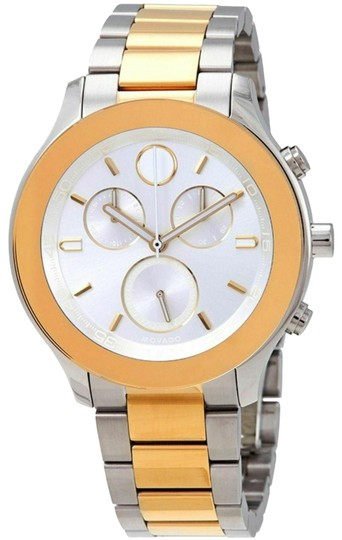 Preload https://img-static.tradesy.com/item/25921805/movado-two-tone-women-s-bold-silver-dial-chronograph-3600546-watch-0-1-540-540.jpg