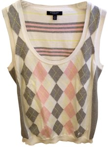 Burberry Top White Pink Gray Yellow