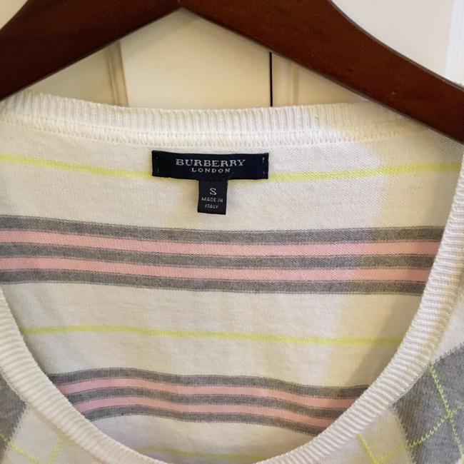 Burberry Top White Pink Gray Yellow Image 1