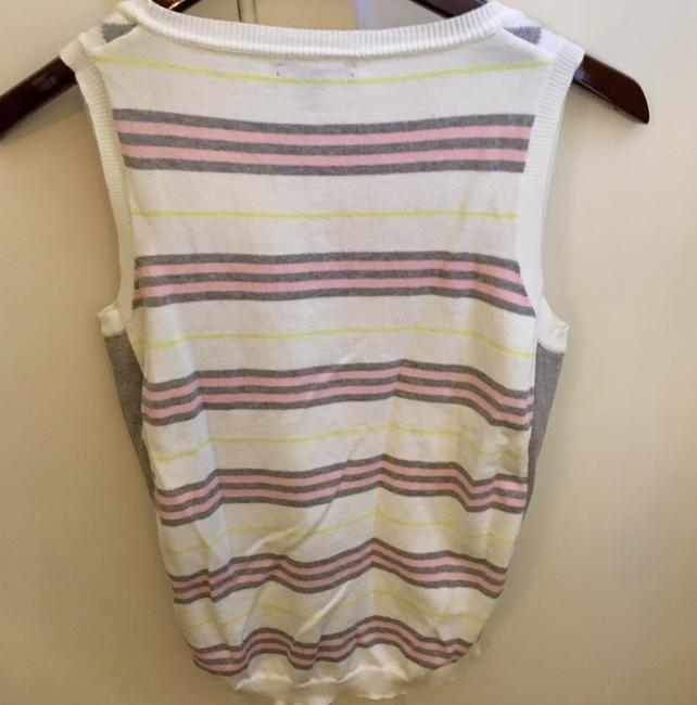 Burberry Top White Pink Gray Yellow Image 2
