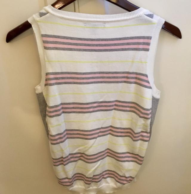 Burberry Top White Pink Gray Yellow Image 3
