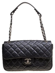 Chanel Leather Fabric Perforated Shoulder Bag