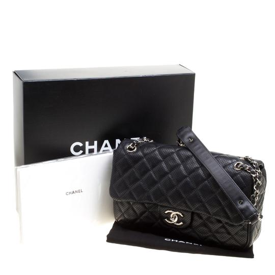 Chanel Leather Fabric Perforated Shoulder Bag Image 8
