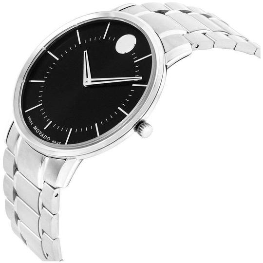Movado Movado Men's Thin Classic Black Dial Stainless Steel Watch 0606687 Image 2