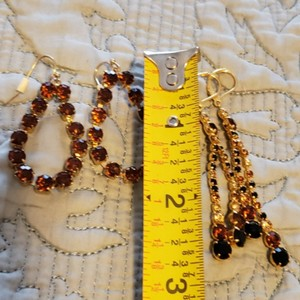 Dillard's Sparkly Earrings set of two pairs
