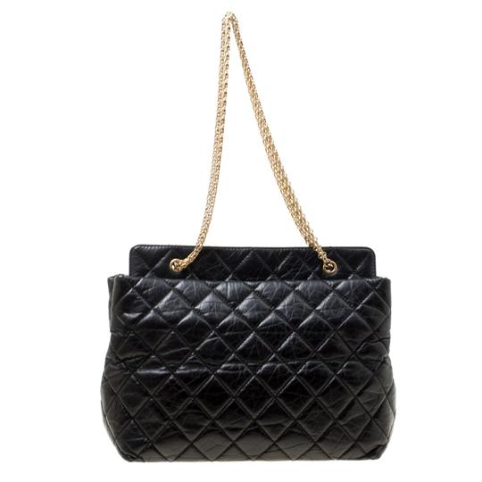 Chanel Leather Fabric Quilted Tote in Black Image 1