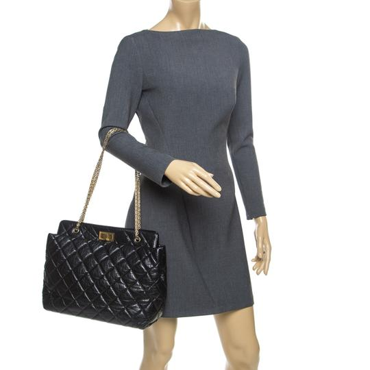 Chanel Leather Fabric Quilted Tote in Black Image 2