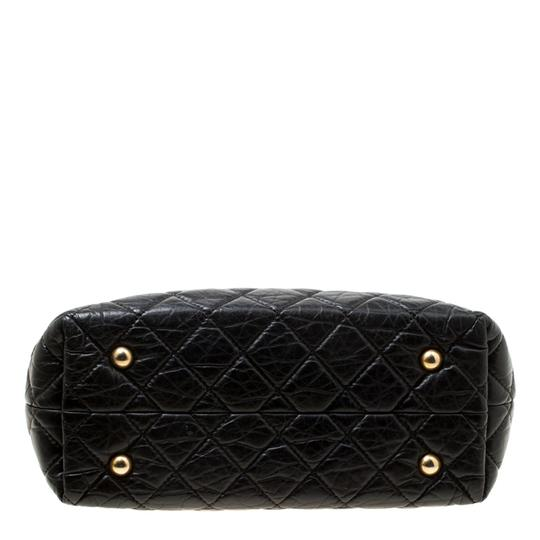 Chanel Leather Fabric Quilted Tote in Black Image 3