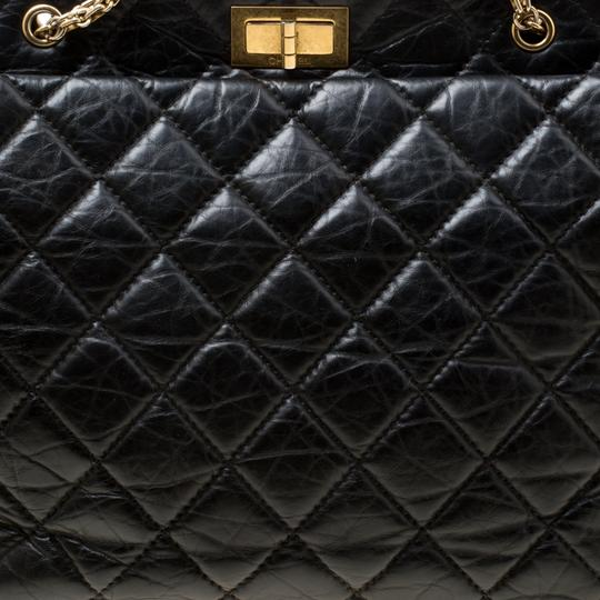 Chanel Leather Fabric Quilted Tote in Black Image 5