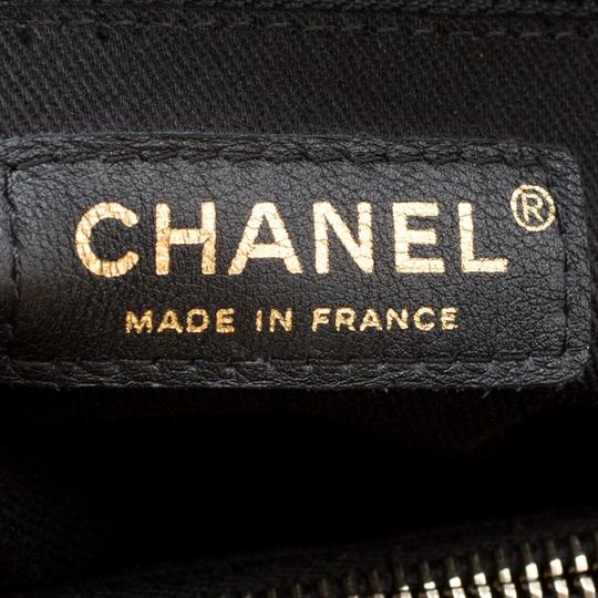 Chanel Leather Fabric Quilted Tote in Black Image 6