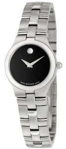 Movado Movado Women's Black Dial/Silver Stainless Steel Watch 0605024