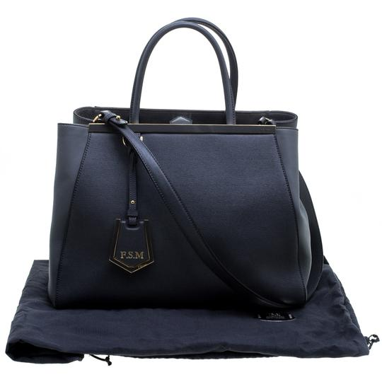 Fendi Leather Fabric Tote in Grey Image 11