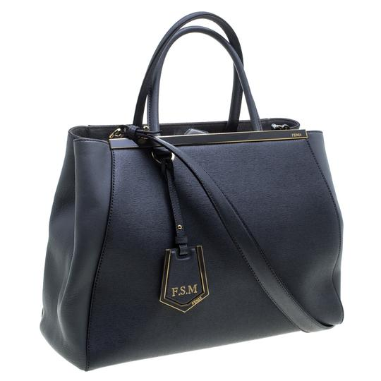 Fendi Leather Fabric Tote in Grey Image 4