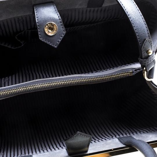 Fendi Leather Fabric Tote in Grey Image 6