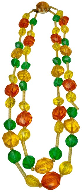 Item - Yellow Western Germany Colorful Beaded Necklace