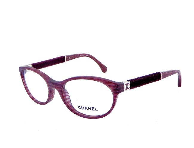 Item - Striped Purple Glitter Ch 3261 C.1440 51mm Velvet Eyeglasses Rx Frames 51-17-135 Italy