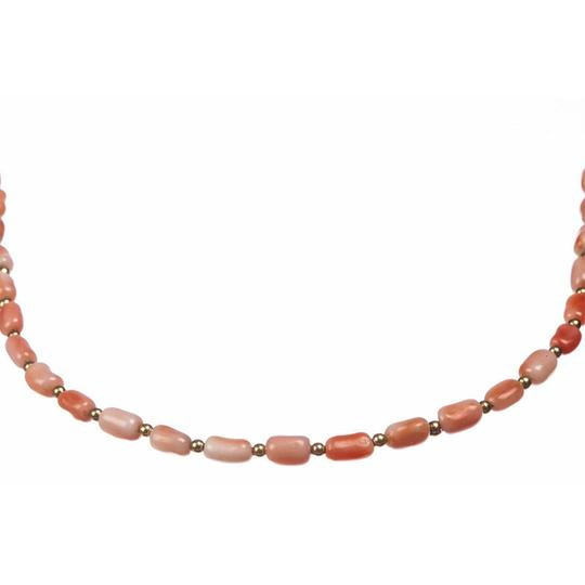 14 kt 14 kt Gold and Pink Coral Bead Necklace Image 2