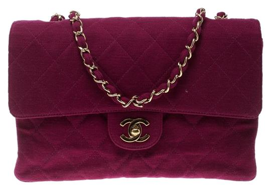 Chanel Quilted Leather Jersey Shoulder Bag Image 0