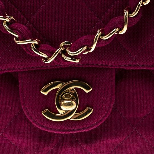 Chanel Quilted Leather Jersey Shoulder Bag Image 6