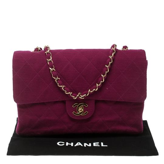 Chanel Quilted Leather Jersey Shoulder Bag Image 8