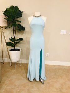 Mac Duggal Couture Ieena For Blue Gown Formal Wedding Dress Size 2 (XS)