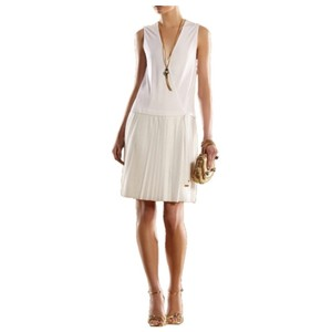 Gucci short dress White and Gold on Tradesy