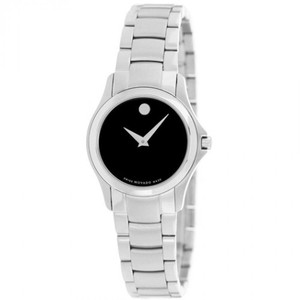 Movado Movado Women's Military Black Dial Stainless Steel Watch 0605870