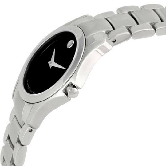 Movado Movado Women's Military Black Dial Stainless Steel Watch 0605870 Image 2